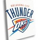 Oklahoma City Thunder Logo Basketball Sport Art 40x30 Framed Canvas Print