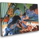 Akira Battle Fight Movie Anime Manga Art 40x30 Framed Canvas Print