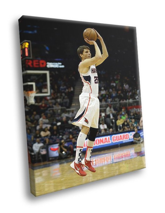 Kyle Korver Jump Shot Atlanta Hawks Basketball 40x30 Framed Canvas Print