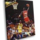 Michael Jordan Chicago Bulls Lakers Magic Johnson 40x30 Framed Canvas Print