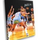Magic Johnson Pass Signature Los Angeles Lakers 40x30 Framed Canvas Print