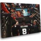 Teemu Ilmari Selanne Hockey Sport 40x30 Framed Canvas Print