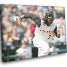 Andrew McCutchen Pittsburgh Pirates Baseball Sport 40x30 Framed Canvas Print