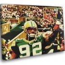 Reggie White Green Bay Packers Painting Art Football 40x30 Framed Canvas Print
