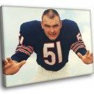 Richard Marvin Dick Butkus Chicago Bears Football 40x30 Framed Canvas Print