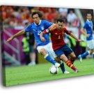 Xavi Hernandez Andrea Pirlo World Cup Brazil 40x30 Framed Canvas Print