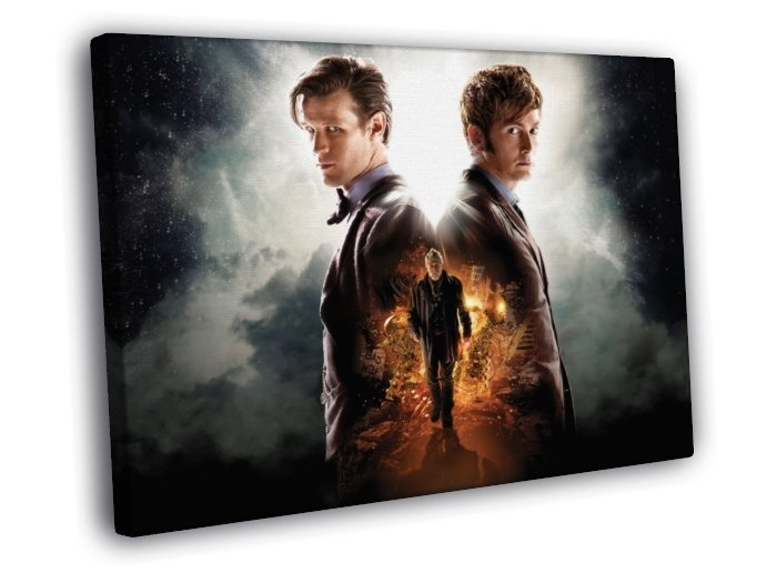 The Day Of The Doctor Who TV Series Awesome 40x30 Framed Canvas Print