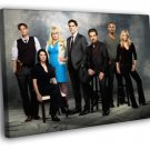 Criminal Minds Cast Characters TV Series 40x30 Framed Canvas Print
