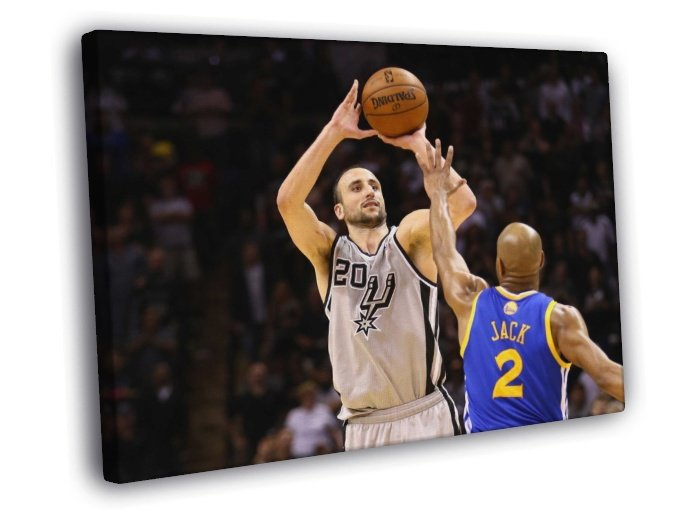 Manu Ginobili San Antonio Spurs Shot Sport 40x30 Framed Canvas Print