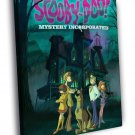 Scooby Doo Mystery Incorporated Cartoon Art 40x30 Framed Canvas Print