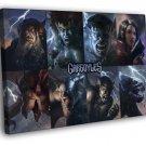 Gargoyles Awesome Characters Cartoon TV Art 40x30 Framed Canvas Print