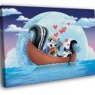 Pepe Le Pew Skunk Love Looney Tunes Art 40x30 Framed Canvas Print