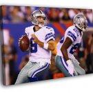 Dallas Cowboys Tony Romo Sport 40x30 Framed Canvas Print