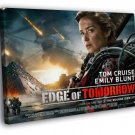 Edge Of Tomorrow Emily Blunt Movie 40x30 Framed Canvas Print