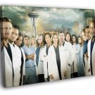 Grey S Anatomy Characters Cast TV Series 40x30 Framed Canvas Print