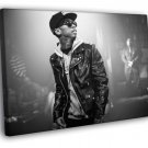 Tyga BW Rapper Hip Hop Music Rap 40x30 Framed Canvas Print