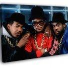 RunD M C Group Run DMC Retro Band Hip Hop 40x30 Framed Canvas Print