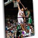 John Starks Dunk New York Knicks Basketball 40x30 Framed Canvas Print