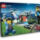 Lego City Police Chase Kids Art 40x30 Framed Canvas Print