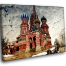Russia Moscow Kremlin St Basil S Cathedral 40x30 Framed Canvas Art Print