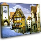 Germany Bavaria Rothenburg Medieval Old Town 40x30 Framed Canvas Art Print