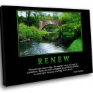 Renew Quote Motivational 40x30 Framed Canvas Art Print