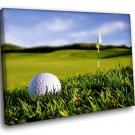 Golf Sport Field Ball Hall 40x30 Framed Canvas Art Print