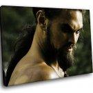 Jason Momoa Khal Drogo Warrior 40x30 Framed Canvas Art Print