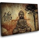 Chinese Buddha Statue 40x30 Framed Canvas Art Print