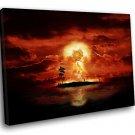 Atomic Bomb Explosion Burst Fantasy 40x30 Framed Canvas Art Print