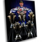 Jimmie Johnson Car Racing Champion 5 Trophies 40x30 Framed Canvas Art Print