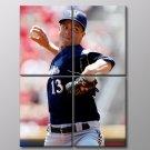 Zack Greinke Baseball Milwaukee Brewers Sport 40x30 Framed Canvas Art Print