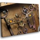 Steampunk Art Fantasy Bee Magic Keys 40x30 Framed Canvas Art Print