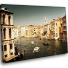 Italy Venice Buildings Watertown Boats Gondola 40x30 Framed Canvas Art Print