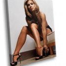 Carmen Electra Glamour Model Sexy Girl Topless 40x30 Framed Canvas Art Print