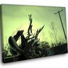 Fantasy Metal Electricity Art 40x30 Framed Canvas Art Print