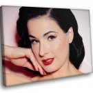 Cute Dita Von Teese Red Lipstick Beauty Spot 40x30 Framed Canvas Art Print