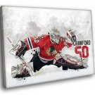 Corey Crawford Chicago Blackhawks Ice Hockey NHL 40x30 Framed Canvas Art Print