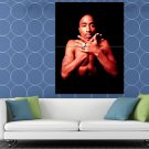2pac Tupac Shakur Shirtless Tattoos Portrait Gangsta HUGE 48x36 Print POSTER