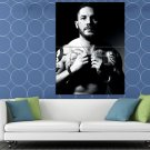 Tom Hardy BW Portrait Shirtless Body Tattoos Handsome HUGE 48x36 Print POSTER