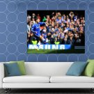 Eden Hazard Shot Awesome FC Chelsea Soccer Football HUGE 48x36 Print POSTER