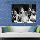 Ernest Hemingway Writer Table Drink BW HUGE 48x36 Print POSTER