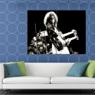 Led Zeppelin Rock Band Group Bw Huge 48x36 Print Poster