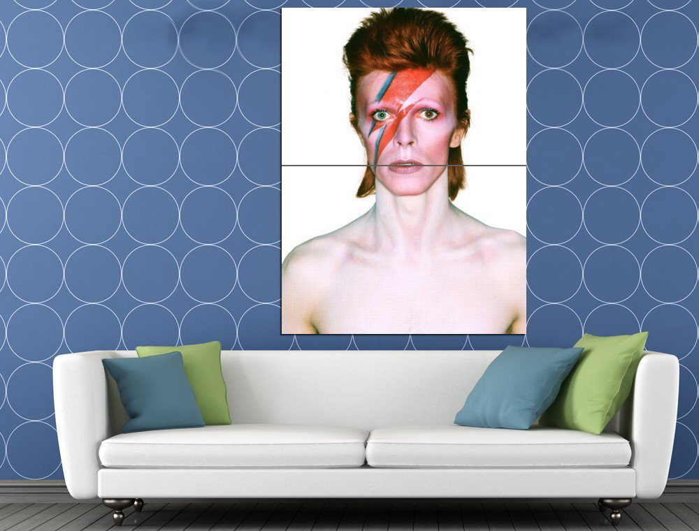 David Bowie Rock Music Singer Amazing Cool HUGE 48x36 Print POSTER