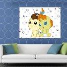 Pound Cake Pumpkin Cake My Little Pony Friendship Cute HUGE 48x36 Print POSTER