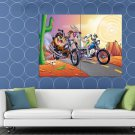 Tasmanian Devil Taz Bugs Bunny Looney Tunes Cool Funny HUGE 48x36 Print POSTER