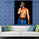 2Pac Live Concert Stage Microphone Tupac Shakur Rap HUGE 48x36 Print POSTER