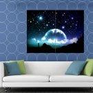 Amazing Night Stars Planet Moon Beautiful Art HUGE 48x36 Print POSTER