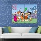 The Flintstones Characters Family Cool Cartoon Art HUGE 48x36 Print POSTER