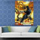 Godzilla Mothra And King Ghidorah 2001 Vintage Classic HUGE 48x36 Print POSTER